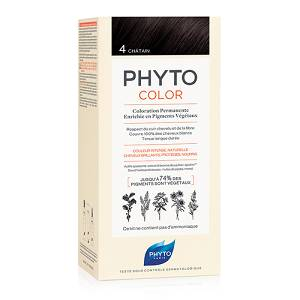 PHYTOCOLOR 4 CASTANO  COLORAZIONE PERMANENTE A BASE VEGETALE SENZA AMMONIACA 100%